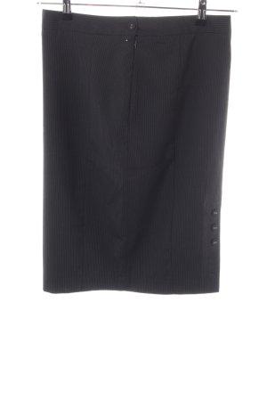 Van Heusen Studio Kokerrok zwart-lichtgrijs gestreept patroon zakelijke stijl