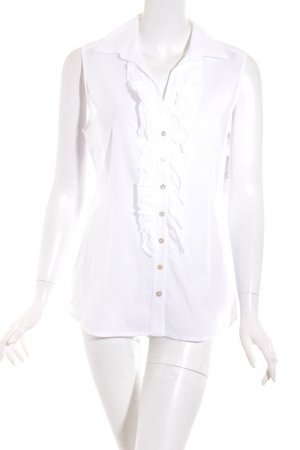 van Laack ärmellose Bluse weiß Elegant