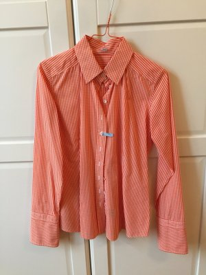 Van Laack Bluse in Trendfarbe Orange