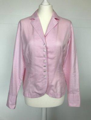 van Laack Bluse rosa mit feinem Fischgrätmuster