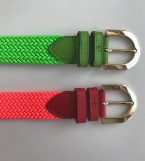 van Laack Braided Belt neon pink-neon green