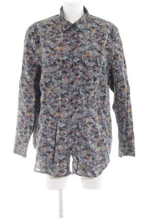 van Laack Hemd-Bluse abstraktes Muster Casual-Look