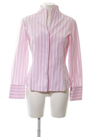 van Laack Hemd-Bluse pink-weiß Streifenmuster Casual-Look