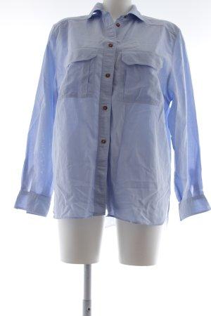 van Laack Hemd-Bluse blau Karomuster Casual-Look