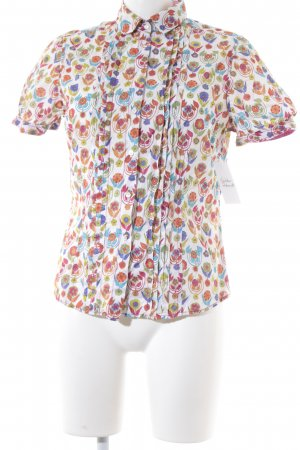 van Laack Hemd-Bluse Blumenmuster extravaganter Stil