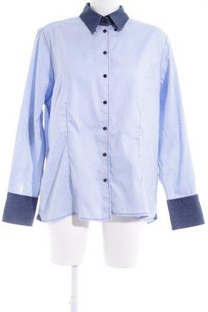 van Laack Hemd-Bluse himmelblau Ellenbogen-Patches