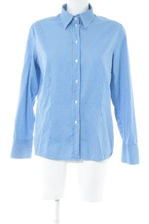 van Laack Blouse-chemisier bleuet-blanc cassé motif rayé élégant