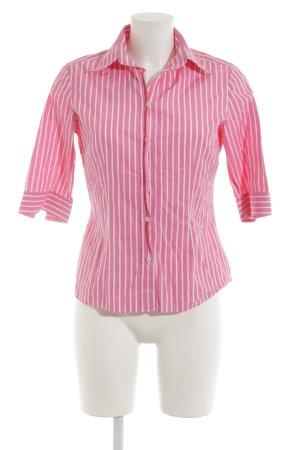 van Laack Hemd-Bluse rosa-weiß Streifenmuster klassischer Stil