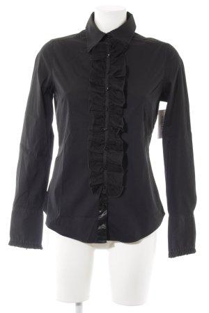 van Laack Hemd-Bluse schwarz Elegant