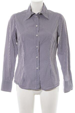 van Laack Holzfällerhemd dunkelblau-weiß Karomuster Elegant