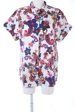 van Laack Kurzarm-Bluse florales Muster Boho-Look