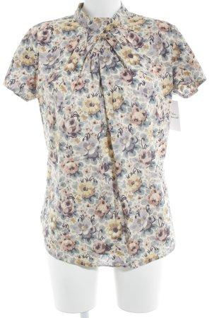 van Laack Kurzarm-Bluse florales Muster Elegant