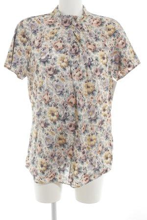 van Laack Kurzarm-Bluse florales Muster klassischer Stil