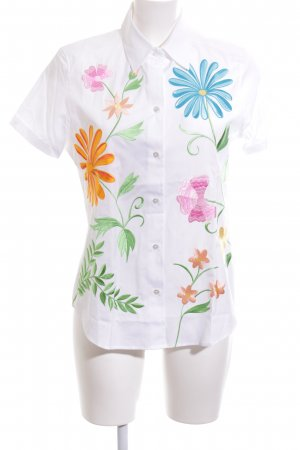 van Laack Short Sleeve Shirt flower pattern casual look