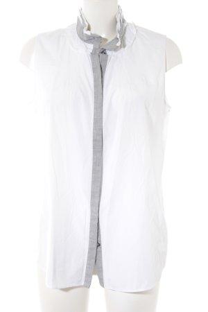 van Laack Kurzarmhemd weiß-grau extravaganter Stil