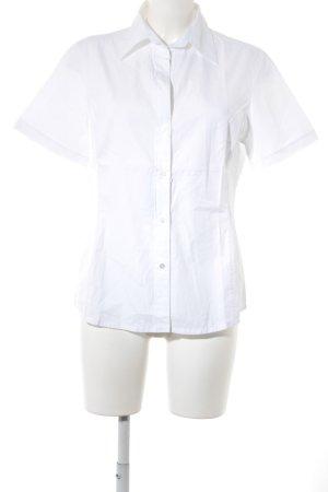 van Laack Shirt met korte mouwen wolwit zakelijke stijl