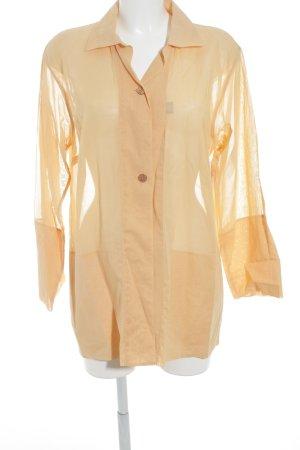van Laack Langarm-Bluse hellorange schlichter Stil