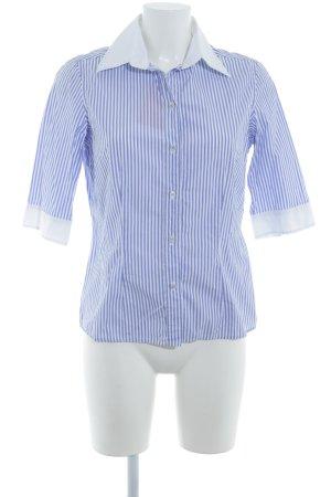 van Laack Langarm-Bluse himmelblau-weiß Streifenmuster Casual-Look