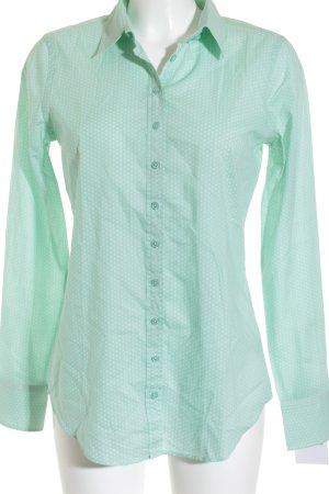 van Laack Langarm-Bluse mint-beige Punktemuster Casual-Look