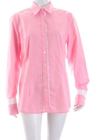 van Laack Langarm-Bluse rosa-weiß schlichter Stil