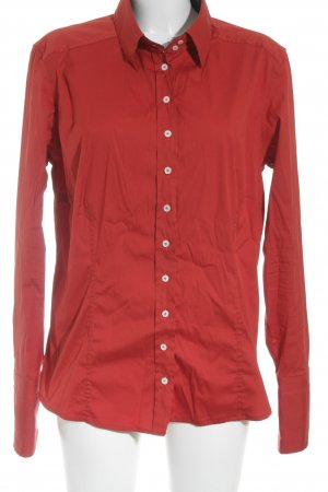 van Laack Long Sleeve Blouse red elegant