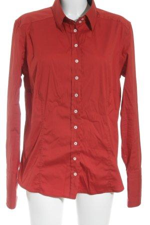 van Laack Langarm-Bluse rot Elegant
