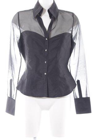 van Laack Langarm-Bluse schwarz Elegant