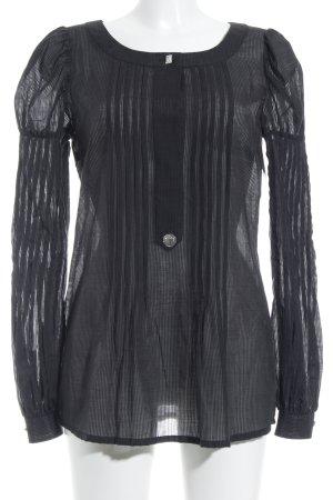 van Laack Langarm-Bluse schwarz extravaganter Stil