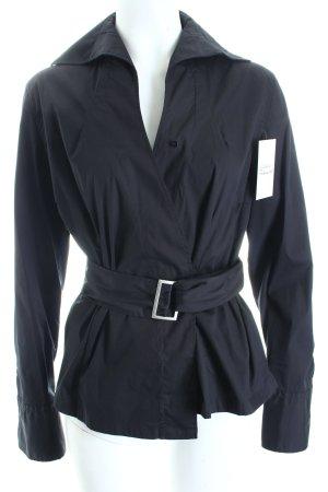 van Laack Langarm-Bluse schwarz klassischer Stil