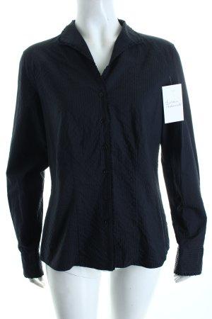 van Laack Langarm-Bluse schwarz Streifenmuster klassischer Stil