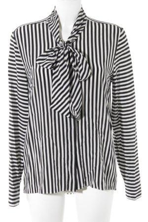 van Laack Langarm-Bluse schwarz-weiß Streifenmuster Casual-Look