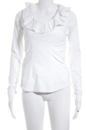 van Laack Langarm-Bluse weiß Elegant