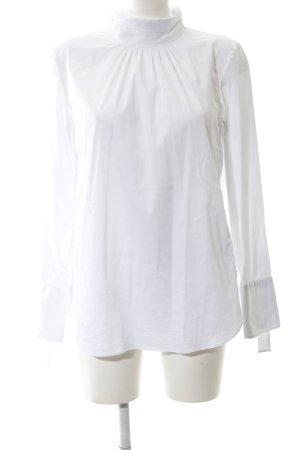 van Laack Langarm-Bluse weiß extravaganter Stil