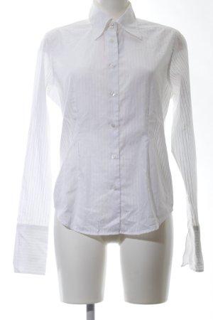 van Laack Camisa de manga larga blanco estampado a rayas estilo «business»