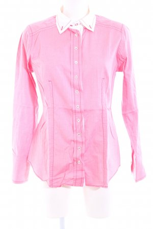 van Laack Langarmhemd pink-weiß Casual-Look