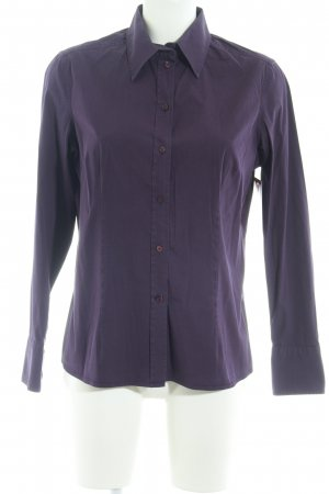 van Laack Langarmhemd dunkelviolett Casual-Look