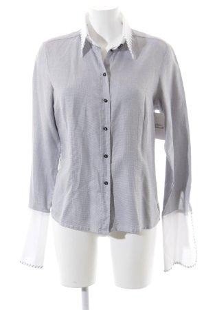 van Laack Langarmhemd grau-weiß meliert Casual-Look