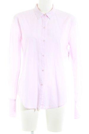 van Laack Langarmhemd rosa-weiß Streifenmuster Business-Look