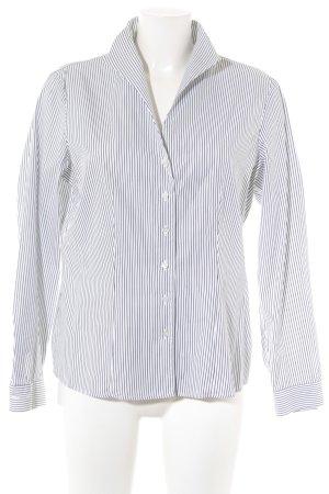 van Laack Langarmhemd schwarz-weiß Streifenmuster Casual-Look