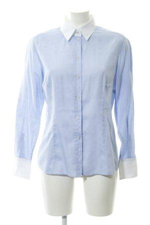 van Laack Chemise à manches longues blanc-bleu azur