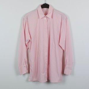 van Laack Longbluse Gr. 36 rosa/weiß gestreift oversized (19/02/101)