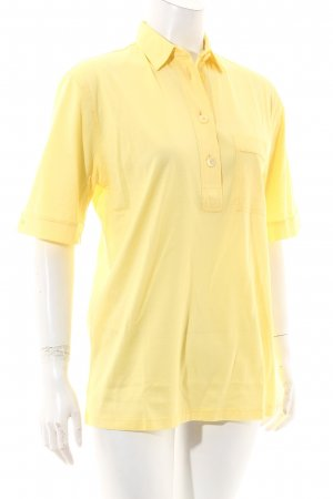 van Laack Polo-Shirt gelb Casual-Look