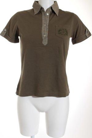 van Laack Polo-Shirt khaki-grüngrau Casual-Look