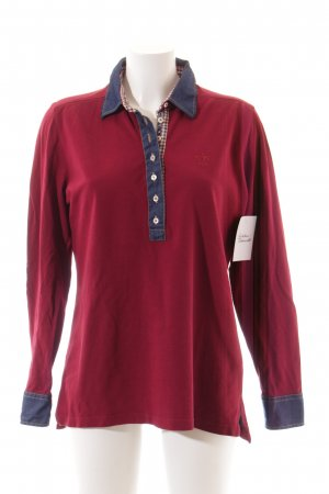 van Laack Polo-Shirt purpur Casual-Look
