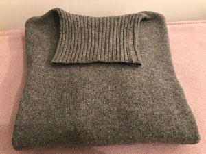 Van Laack Rollkragen-Pullover, reine Wolle, grau