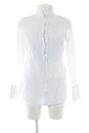 van Laack Ruffled Blouse white business style
