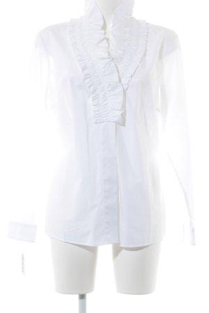 van Laack Rüschen-Bluse weiß Elegant