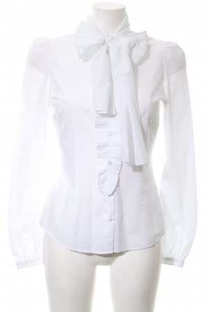 van Laack Blusa collo a cravatta bianco stile professionale