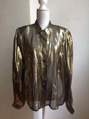 Van Laack Seidenbluse Gold Metallic