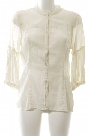 van Laack Stand-Up Collar Blouse cream business style